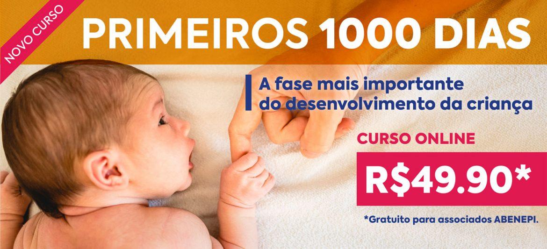 """Curso """"Primeiros 1000 dias: a fase mais importante do desenvolvimento da criança""""."""